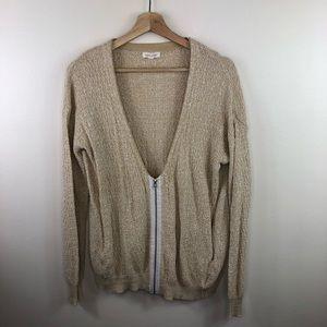 UO silence + noise half zip knit cardigan size S